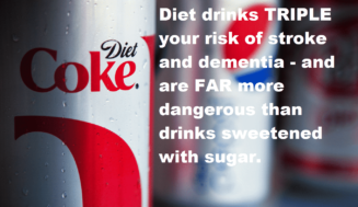The dangers of diet drinks – It TRIPLE your risk of stroke and dementia